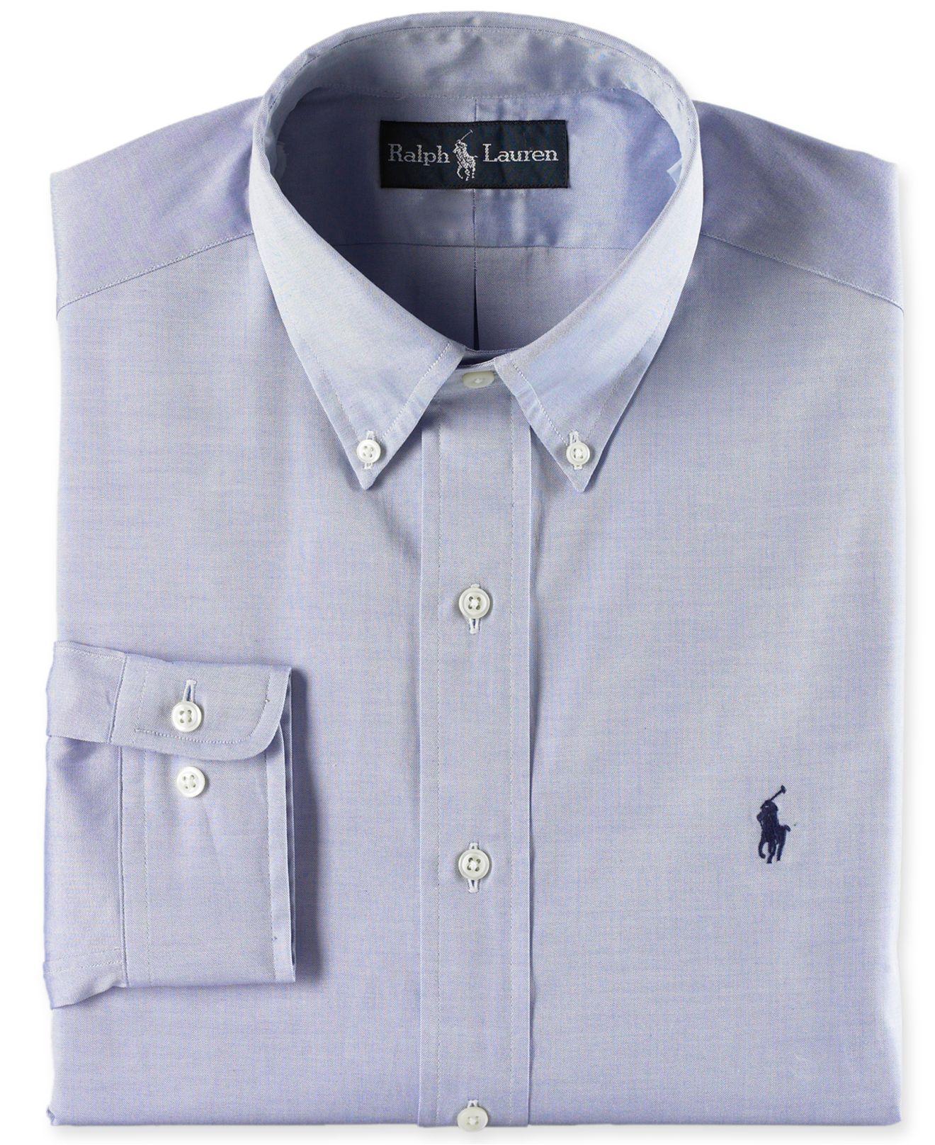 Lyst Polo Ralph Lauren Pinpoint Dress Shirt In Blue For Men