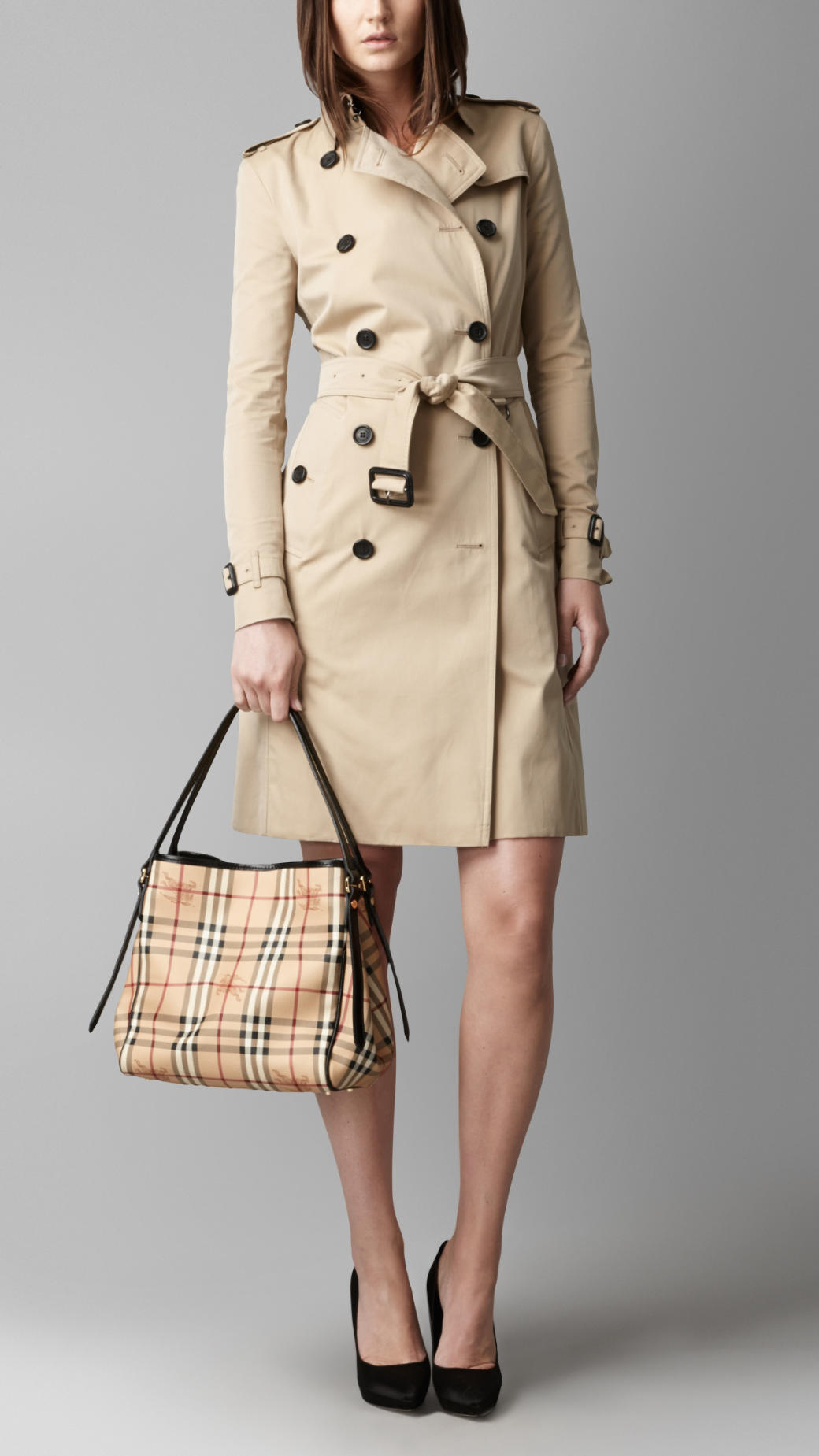 8ff12828885 Burberry The Small Canter In Haymarket Check in Natural - Lyst