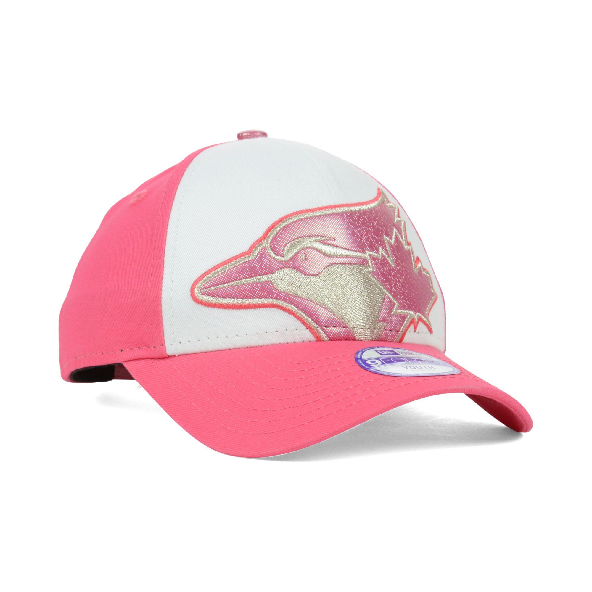 363c16e99f3 ... new zealand lyst ktz kids toronto blue jays glitter filler 9forty cap  in pink 88b4d 22289