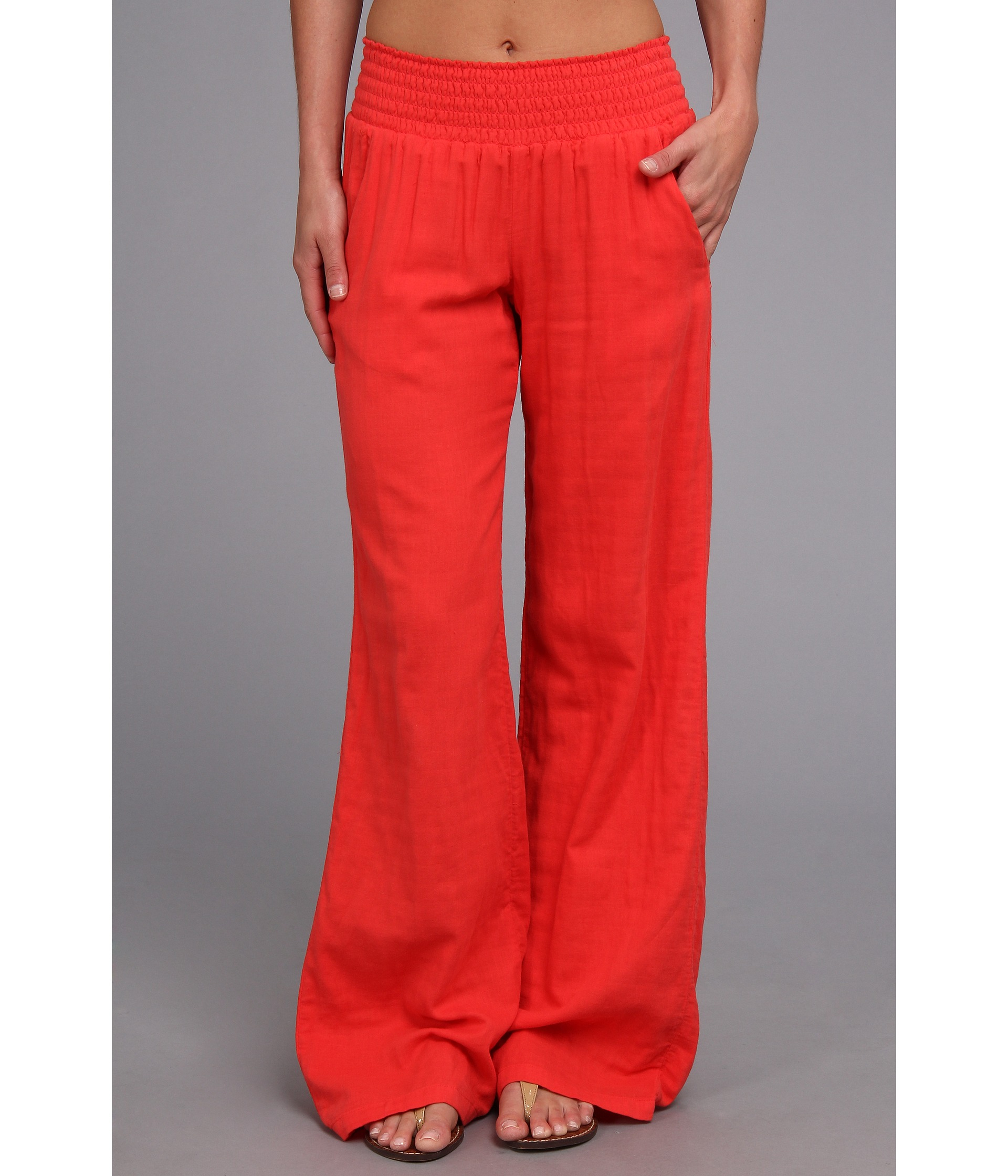 Splendid Cotton Wide Leg Pant in Orange | Lyst