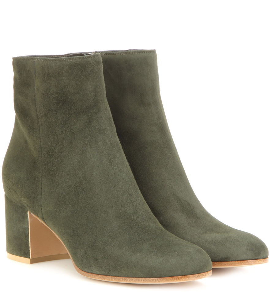 gianvito rossi margaux suede ankle boots in green lyst. Black Bedroom Furniture Sets. Home Design Ideas