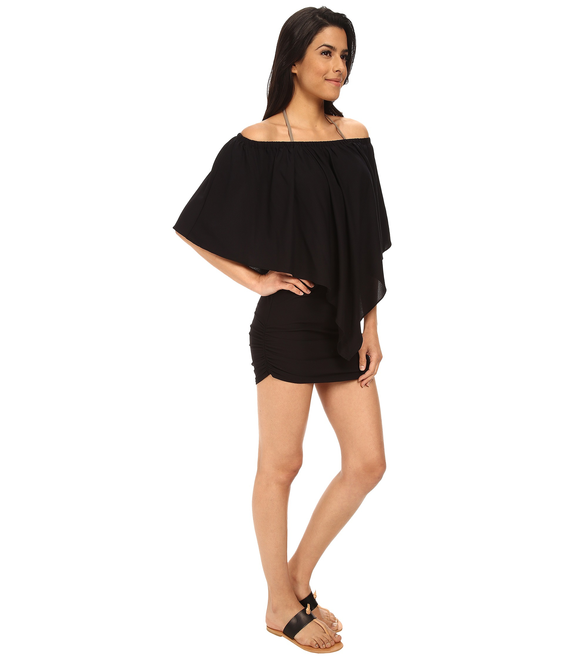 29a1b7d6b38 Lyst - Luli Fama Cosita Buena Party Dress Cover-Up in Black