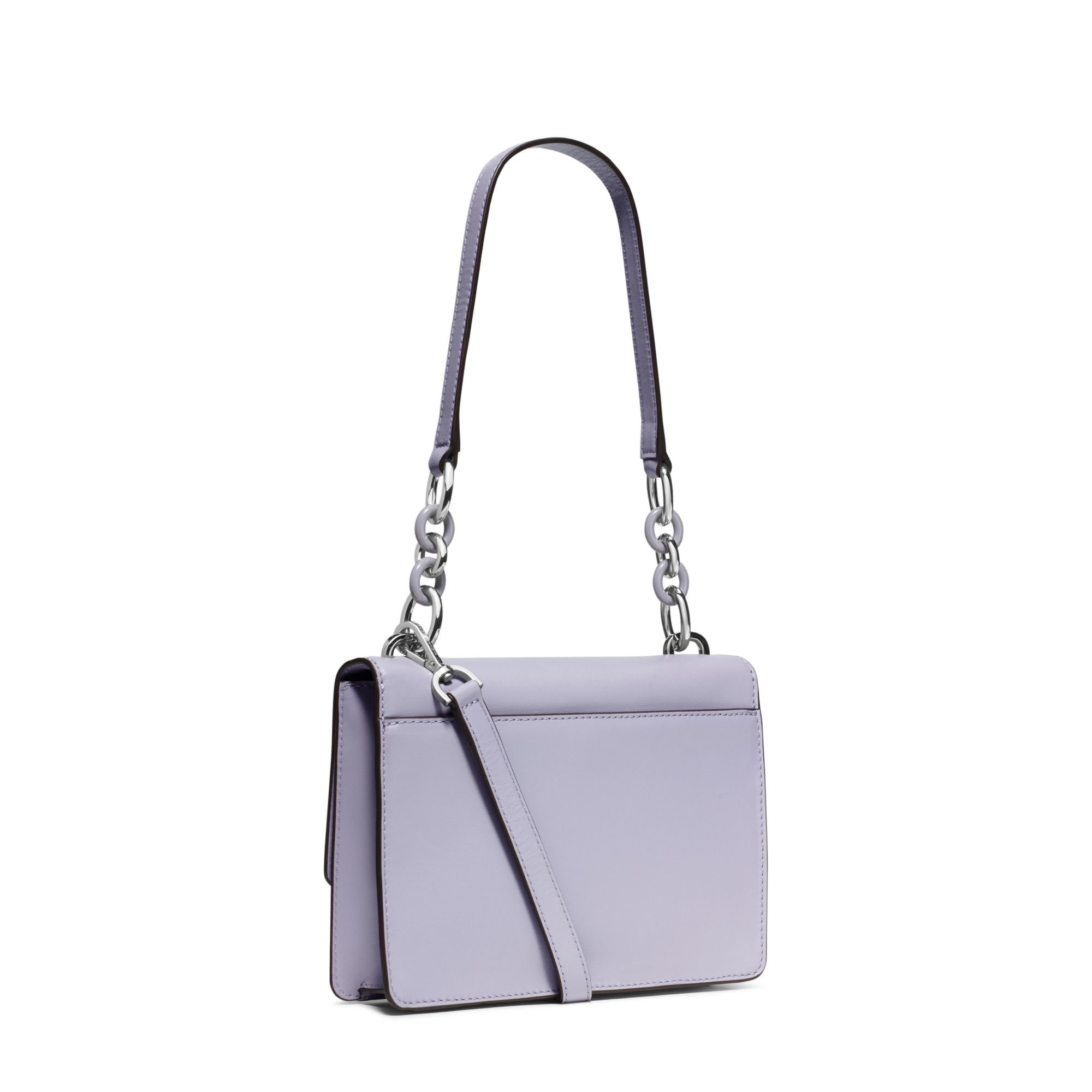 Michael kors Cynthia Small Leather Shoulder Bag in Purple | Lyst