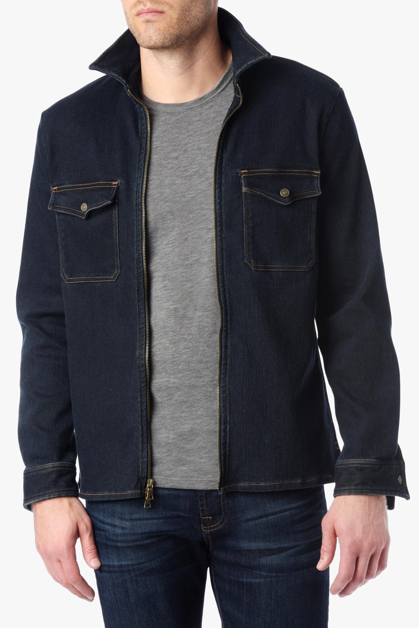 Shirt jacket design - 7 For All Mankind M Lange Denim Shirt Jacket In Indigo In Blue For