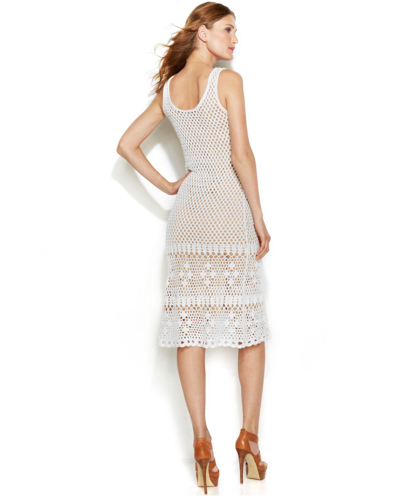 Crewneck Crochet Dress Michael Kors f8PX6Yz