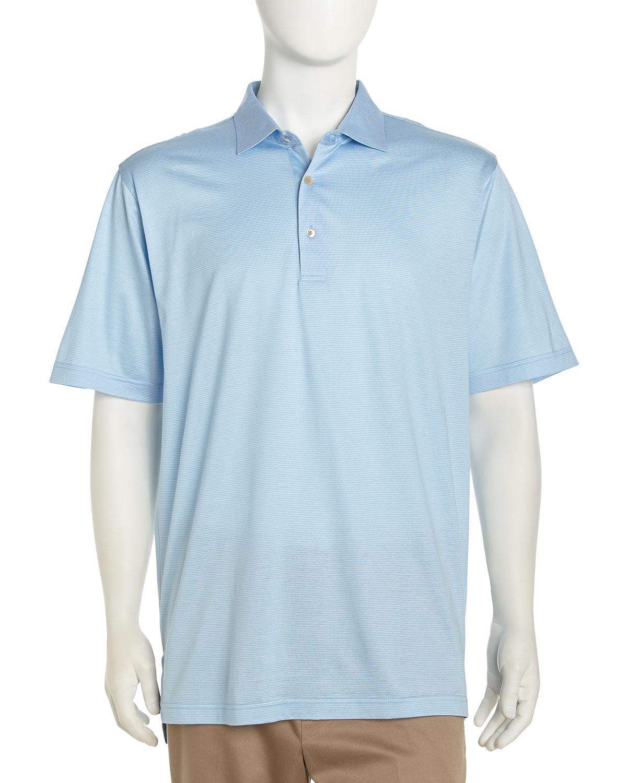 Peter millar demarino striped golf shirt tarheel blue for Peter millar golf shirts