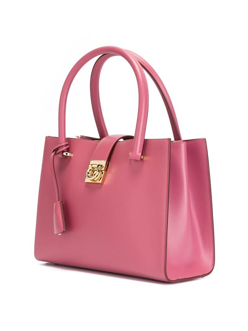 50f5b897e9b5 Lyst - Ferragamo  juliette  Tote in Pink