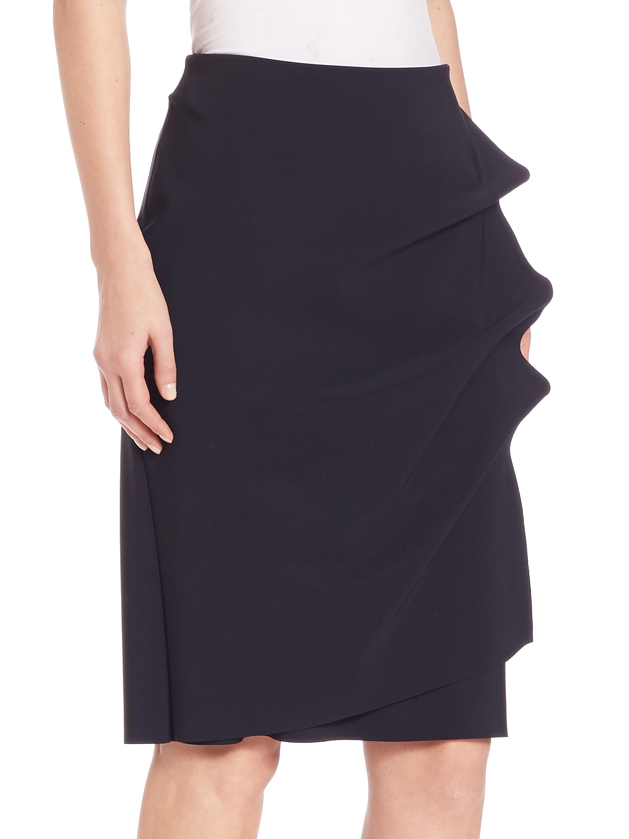 La petite robe di chiara boni Side Ruffle Pencil Skirt in ...