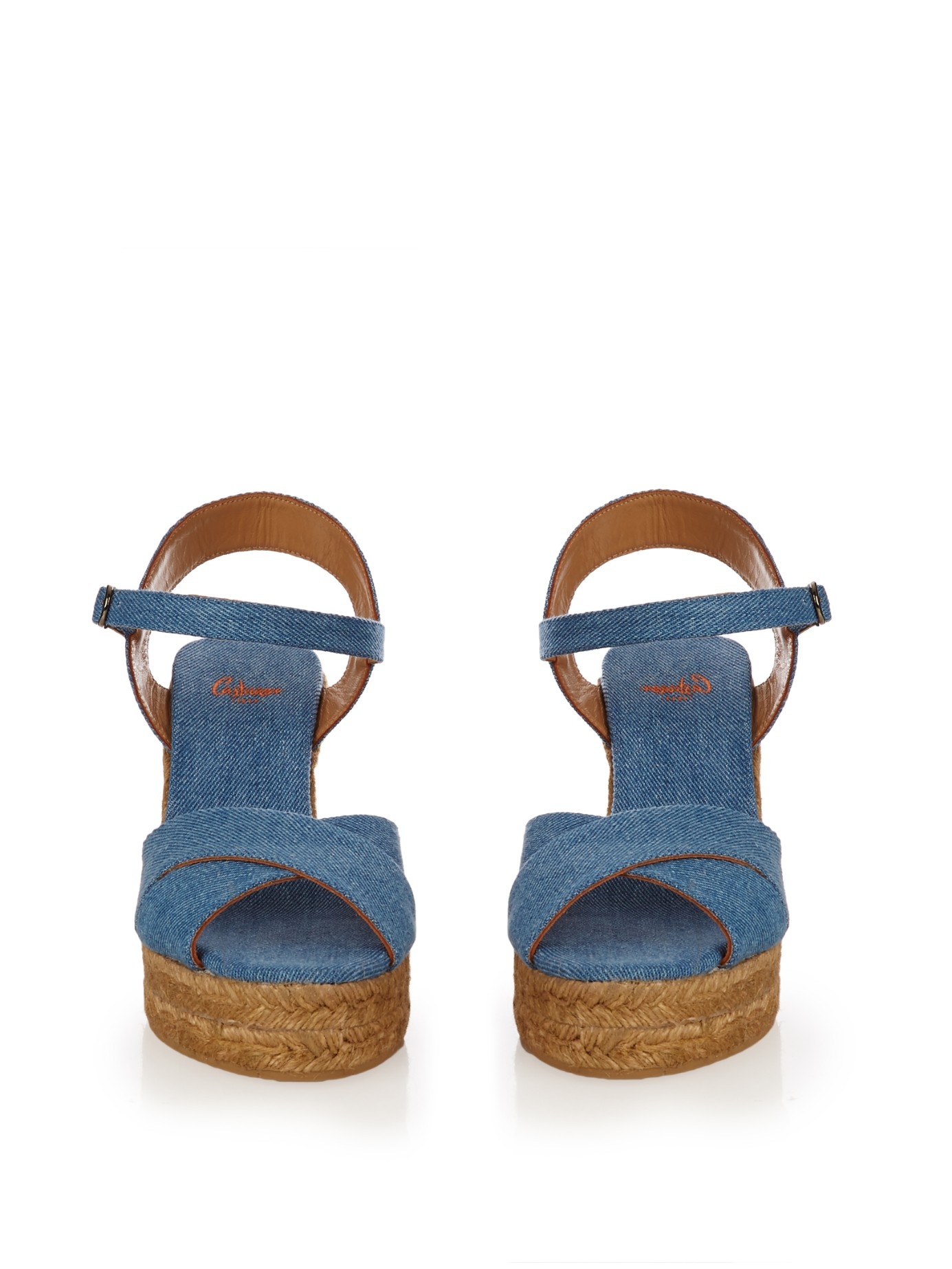 f582e5bf9a1 Lyst Castaner Blaudell Denim Espadrille Wedges In Blue