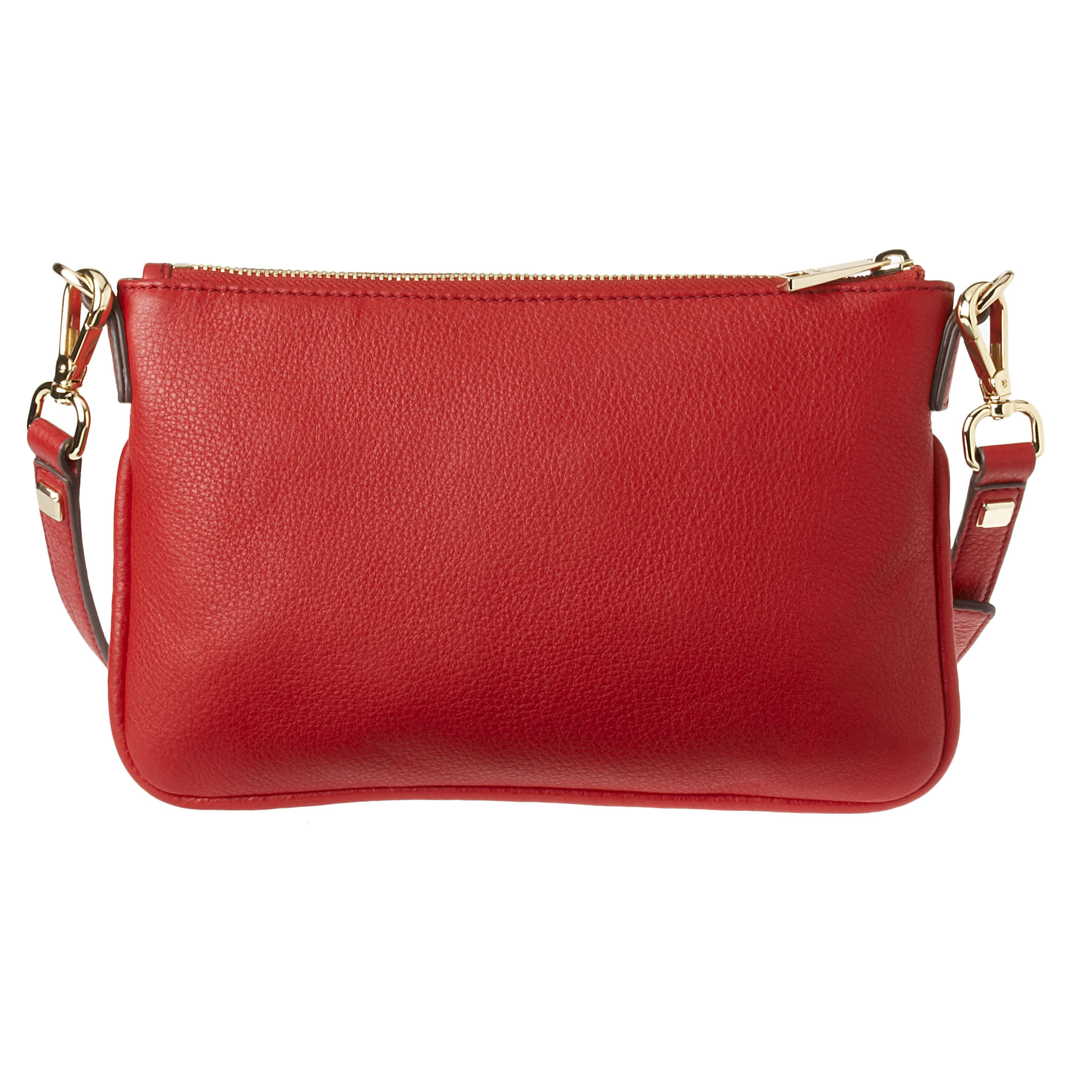 Nine west Hudson Pebbled Leather Crossbody Bag in Red | Lyst