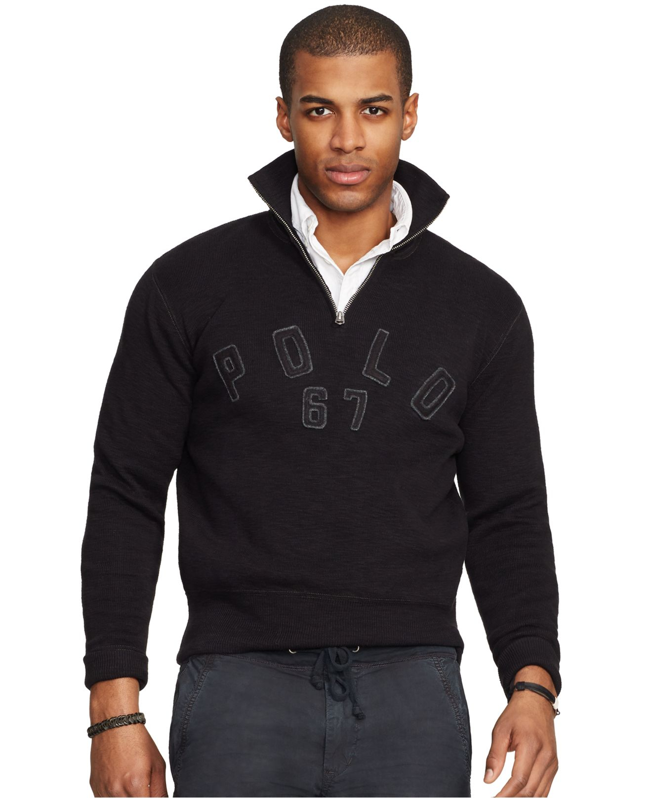 ... polo ralph lauren half-zip mock neck pullover