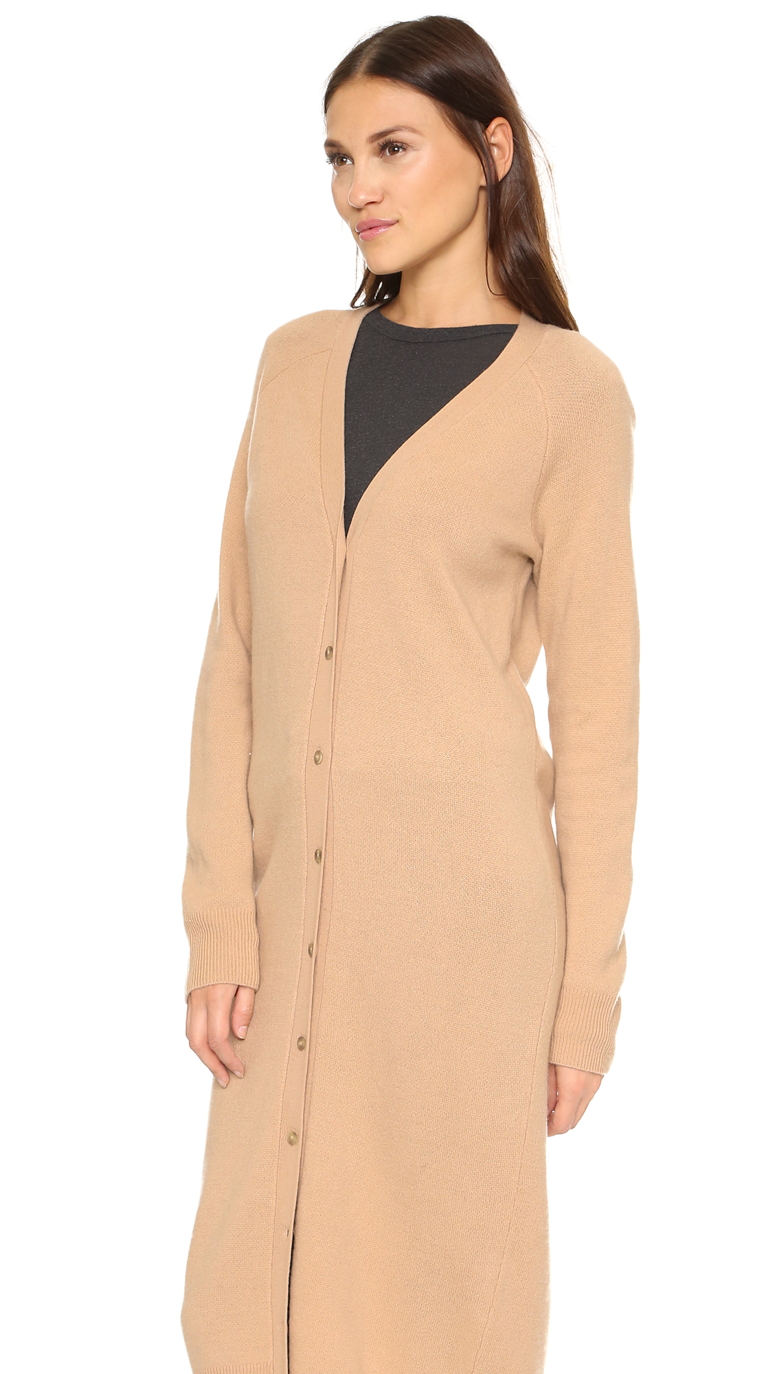 talexander wang cashwool floor length cardigan - mannequin in