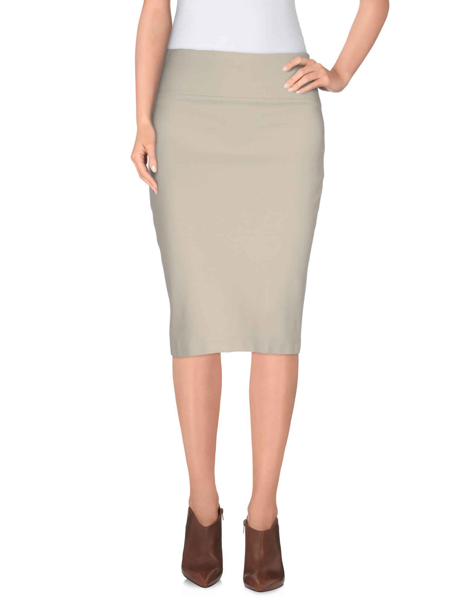 blumarine knee length skirt in white ivory lyst