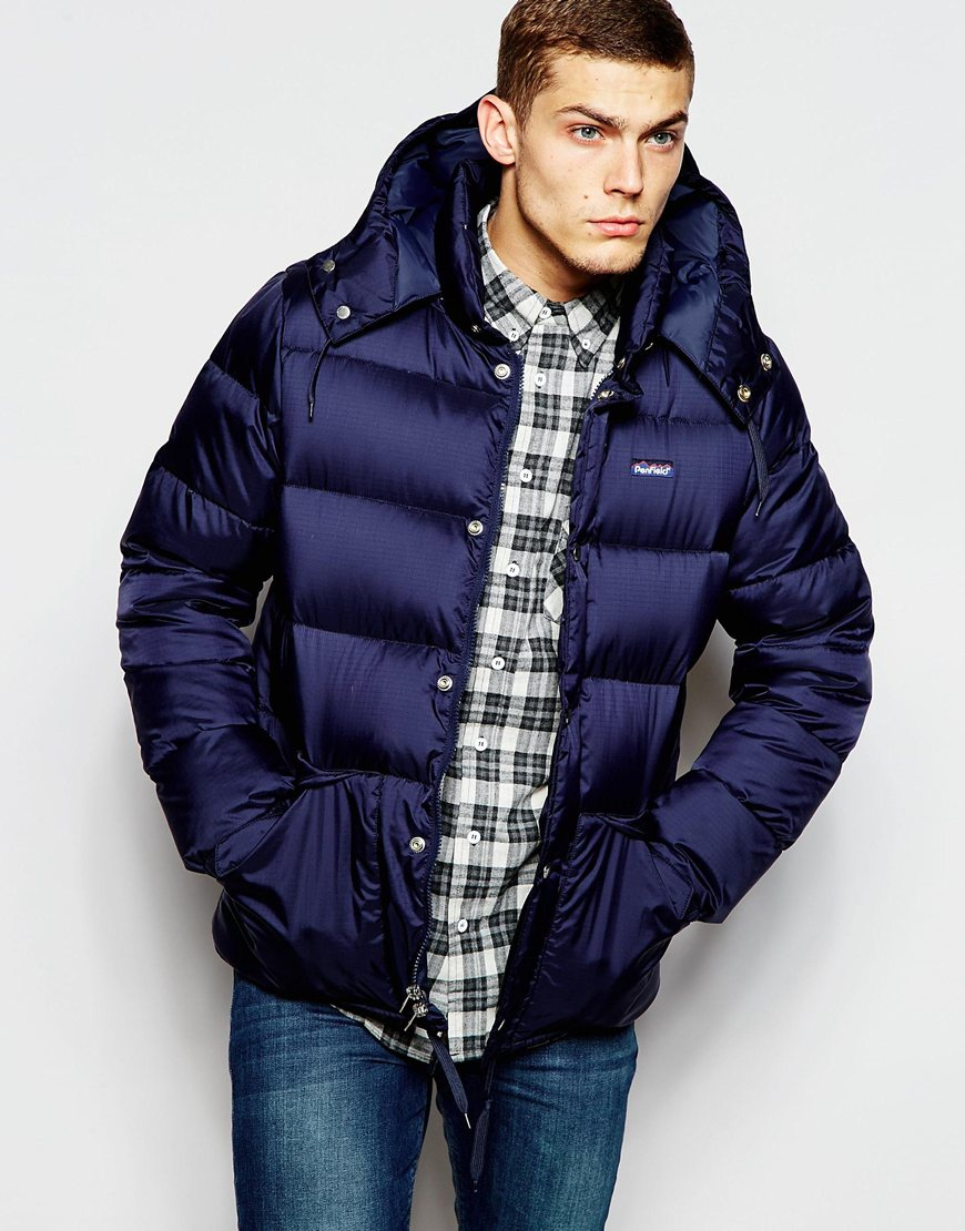Penfield Shower Proof Bowerbridge Down Insulated Jacket in Blue ...