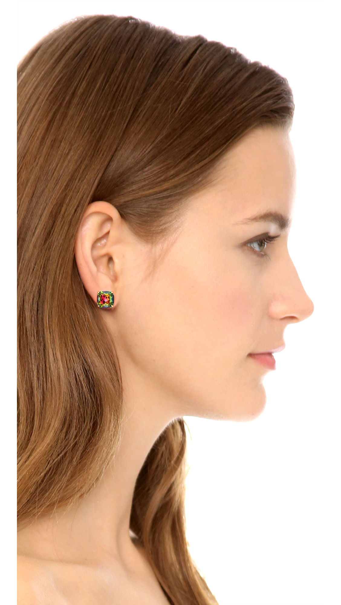 2129e8199 ... Ea Stud Earrings For Daith Multicolor. Kate Spade Glitter Stud Earrings  Amazing Diamond. Gallery. Lyst Kate Spade Small Square Stud Earrings