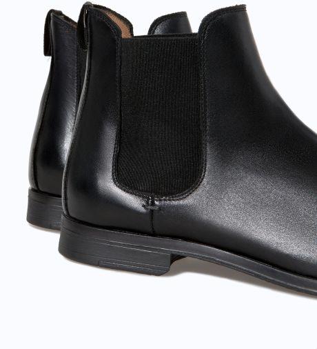 f152b353 Zara Stretch Ankle Boot in Black for Men