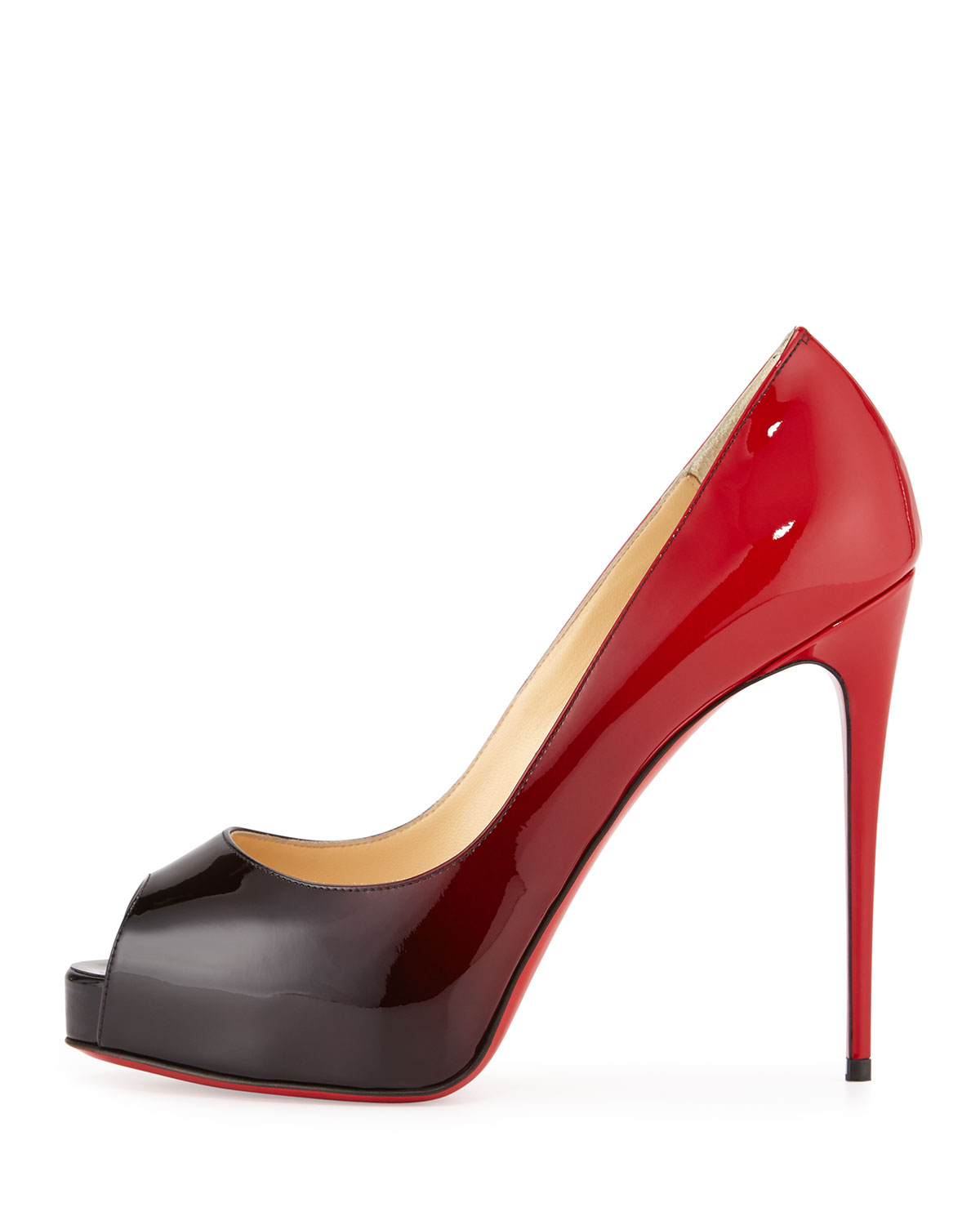 eac95d297372 ... cheap lyst christian louboutin new very prive ombre peep toe red sole  0bbb1 f7d02