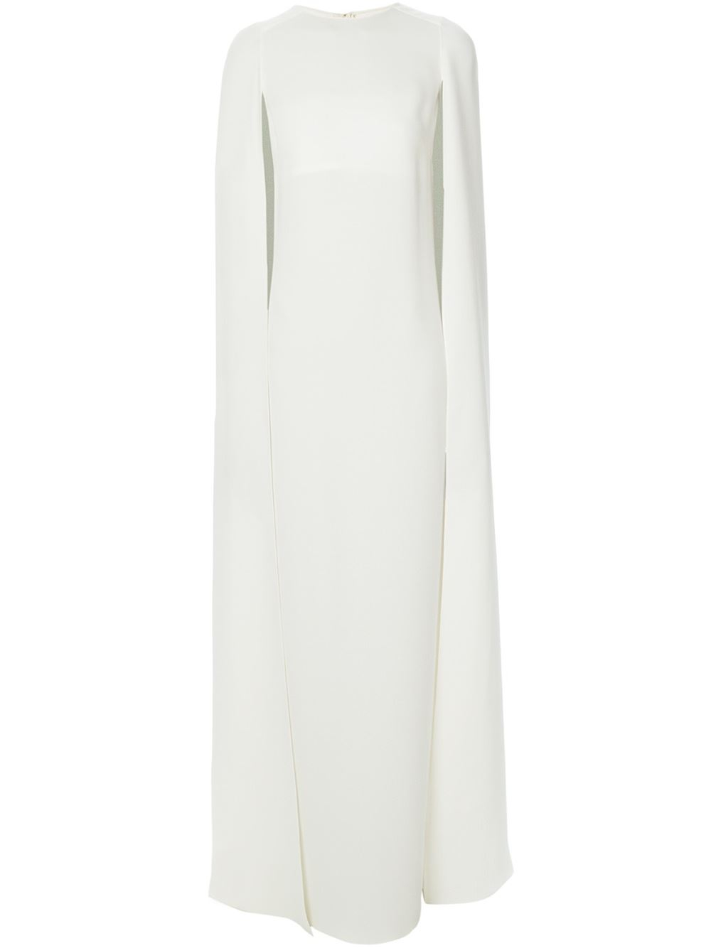 8924d2ec29 Valentino Cape-Style Evening Dress in White - Lyst