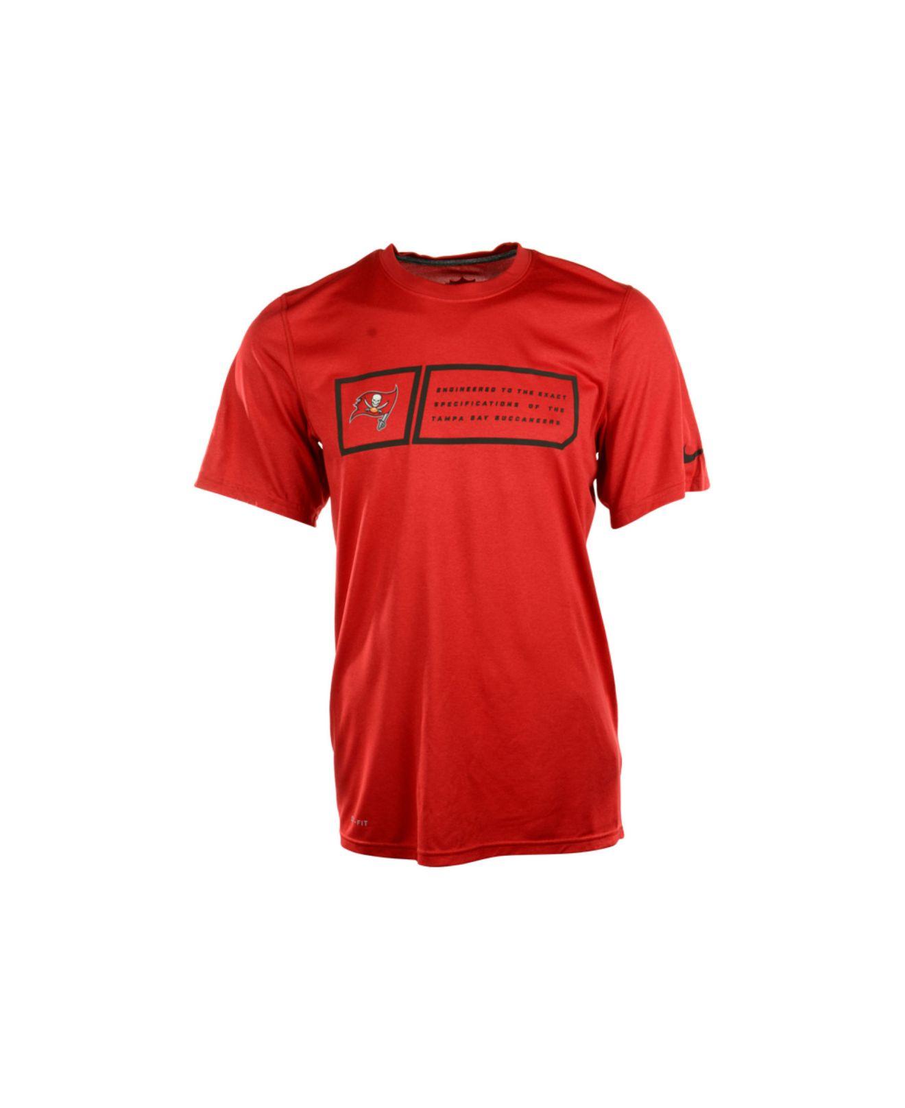 Nike men 39 s short sleeve tampa bay buccaneers dri fit t for Dri fit t shirt design
