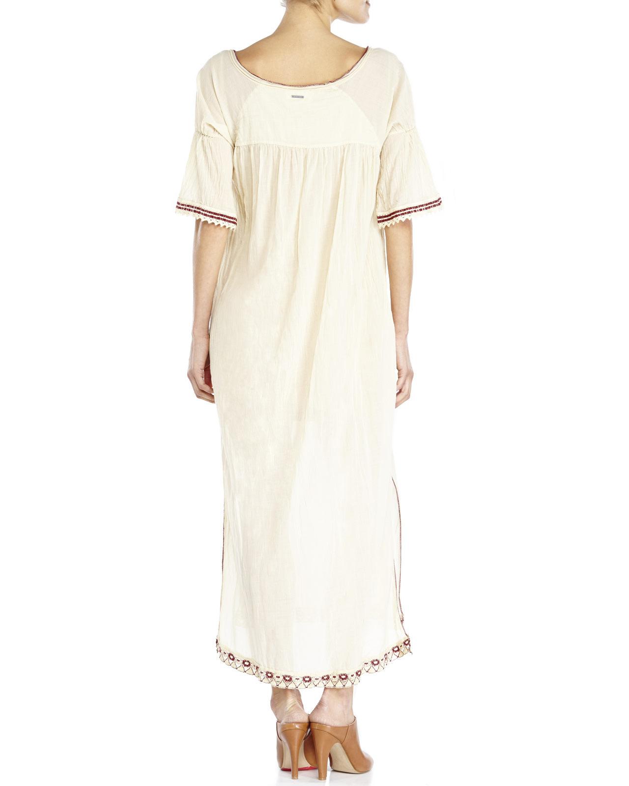 Century 21 ottod 39 ame keyhole hi low dress in beige light for Century 21 dress shirts