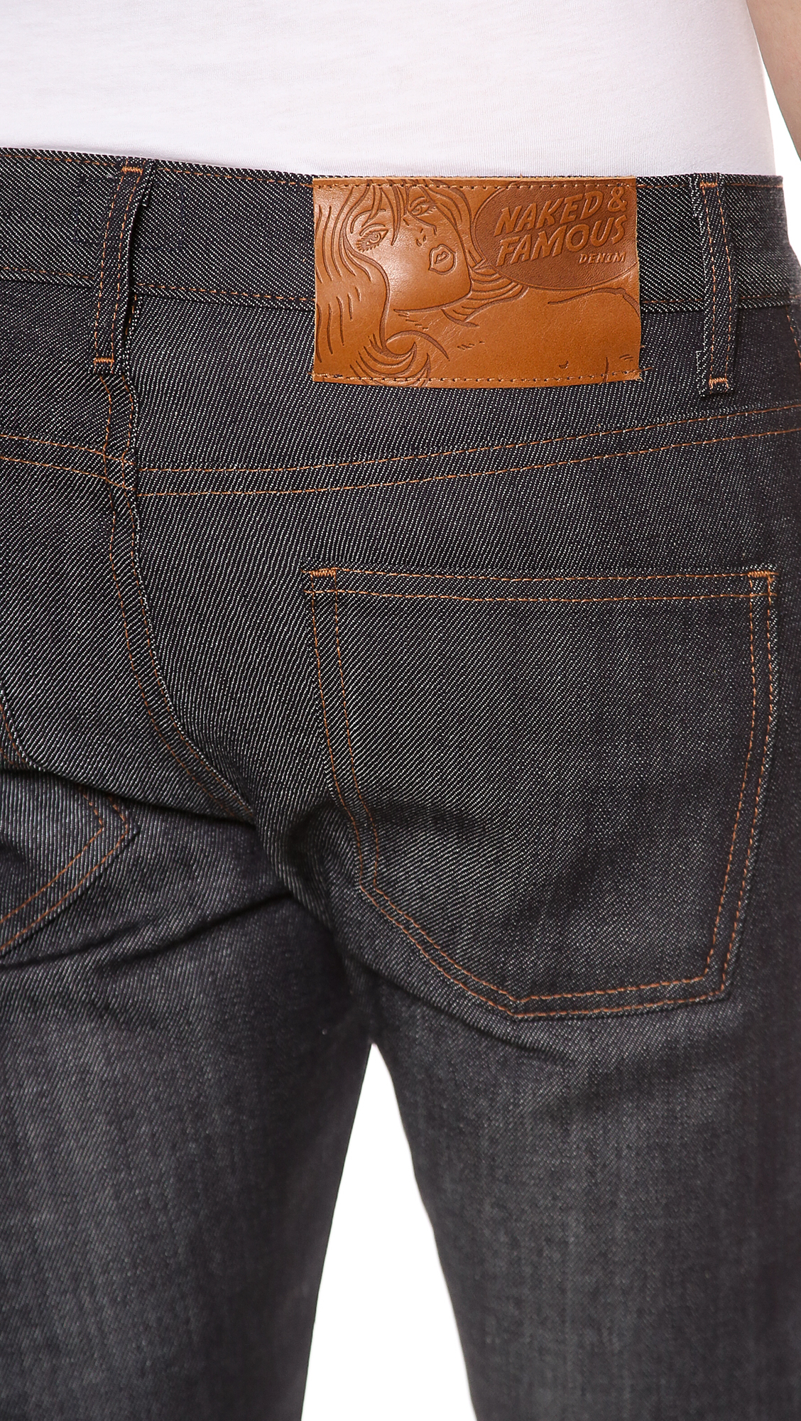 Naked & famous Super Skinny Guy Stretch Selvedge Jeans in ...