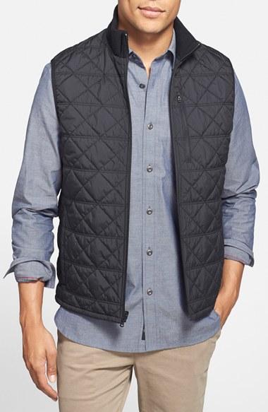 Victorinox 'Matterhorn' Quilted Zip Front Vest in Black for Men | Lyst : quilted zip front vest - Adamdwight.com