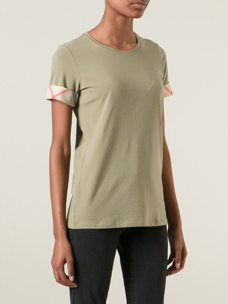 lyst burberry brit slim fit t shirt in green. Black Bedroom Furniture Sets. Home Design Ideas