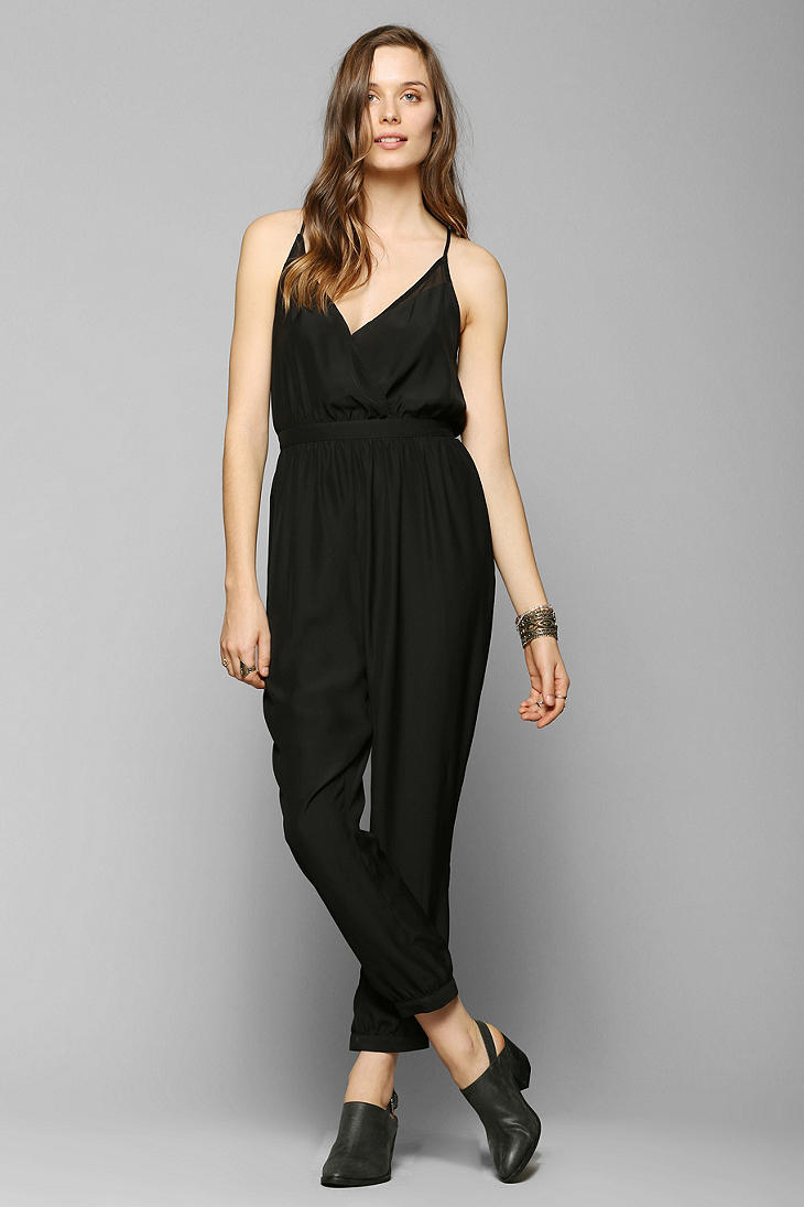 1e4132e61580 Lyst - Urban Outfitters Silence Noise Silky Diamond Jumpsuit in Black