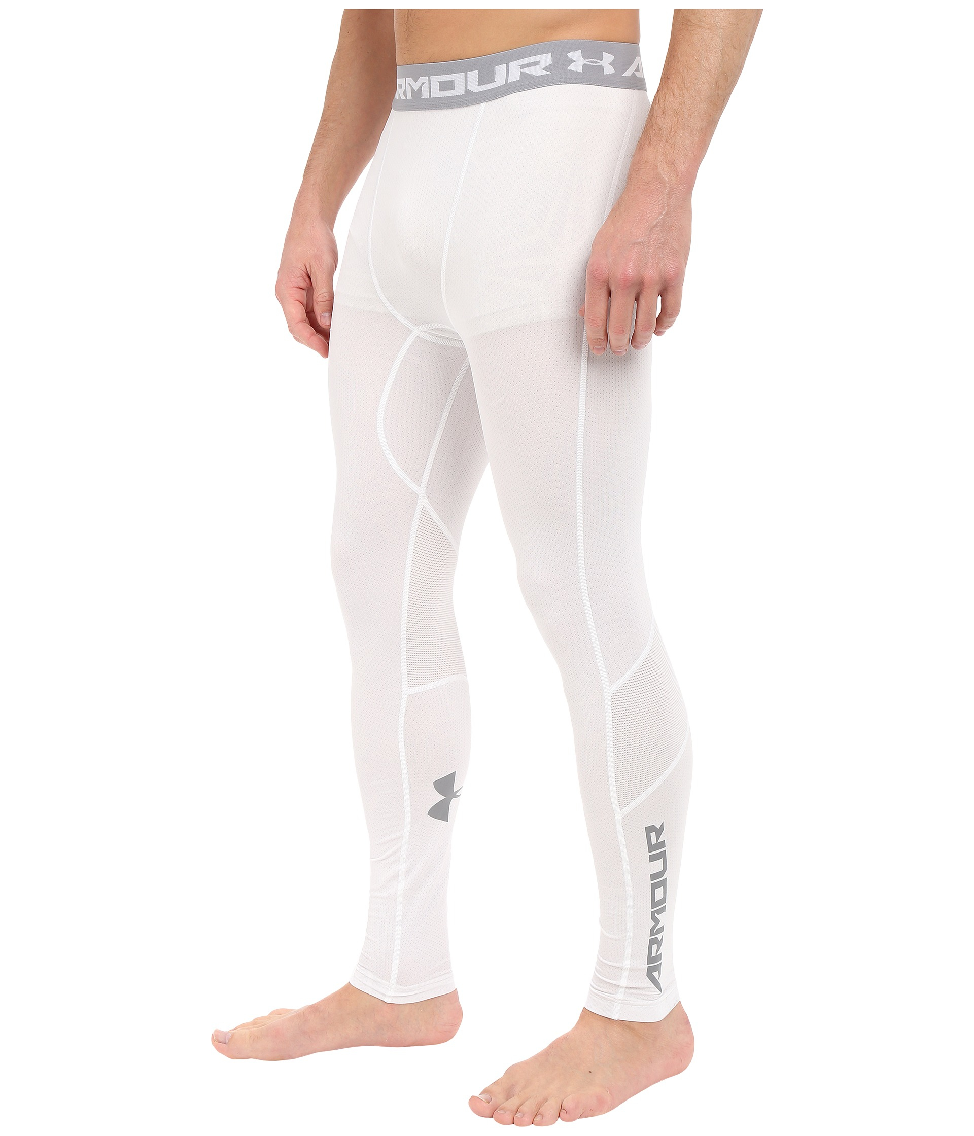 1db43d7e1825d Under Armour Ua Heatgear® Coolswitch Compression Leggings in White ...