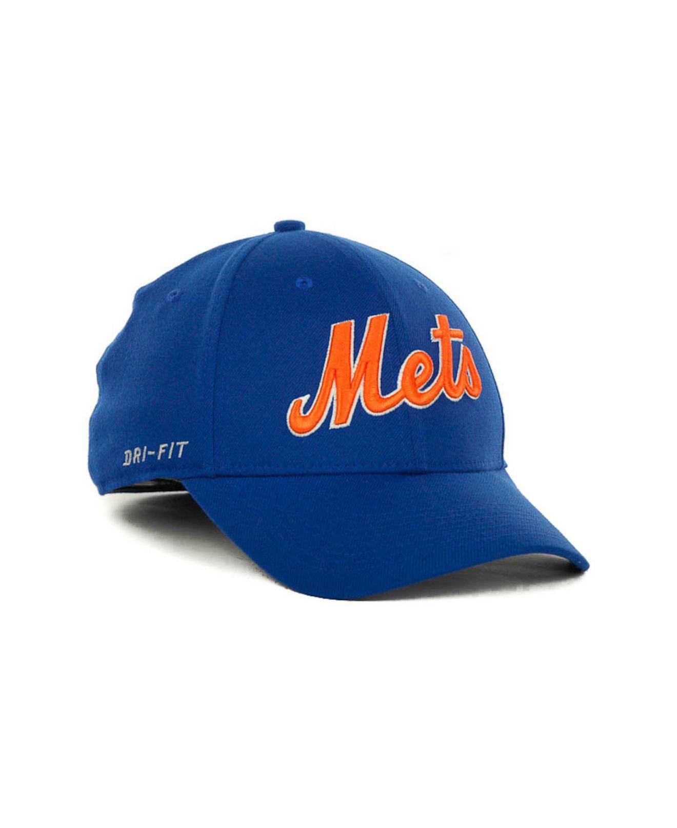 2a631ed04fff9 Nike New York Mets Dri-fit Swoosh Flex Cap in Blue for Men - Lyst