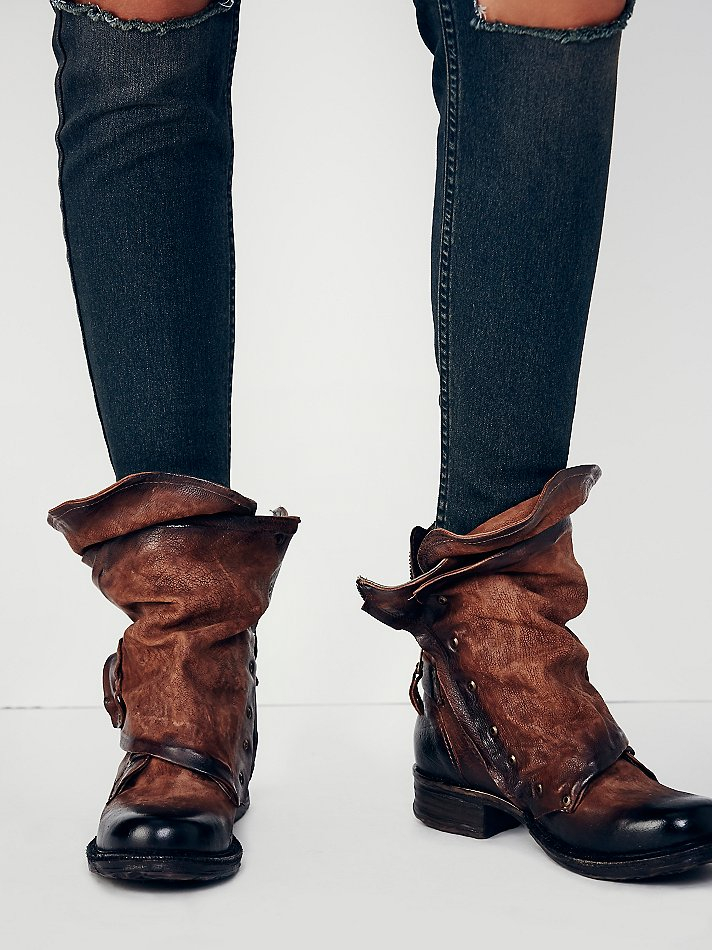 Lyst Free People Emerson Ankle Boot In Brown