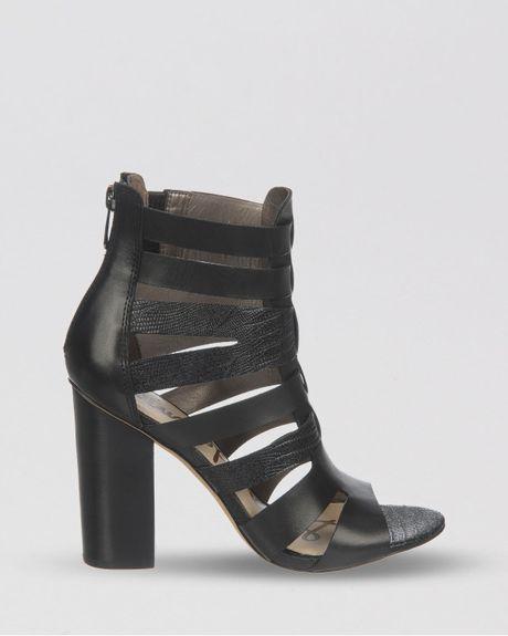 Sam Edelman Sandals Yasmine Block High Heel In Black Lyst