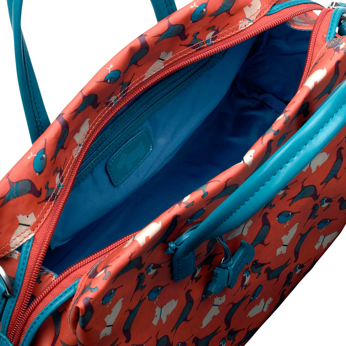 radley dog and bird medium grab bag in blue lyst gallery