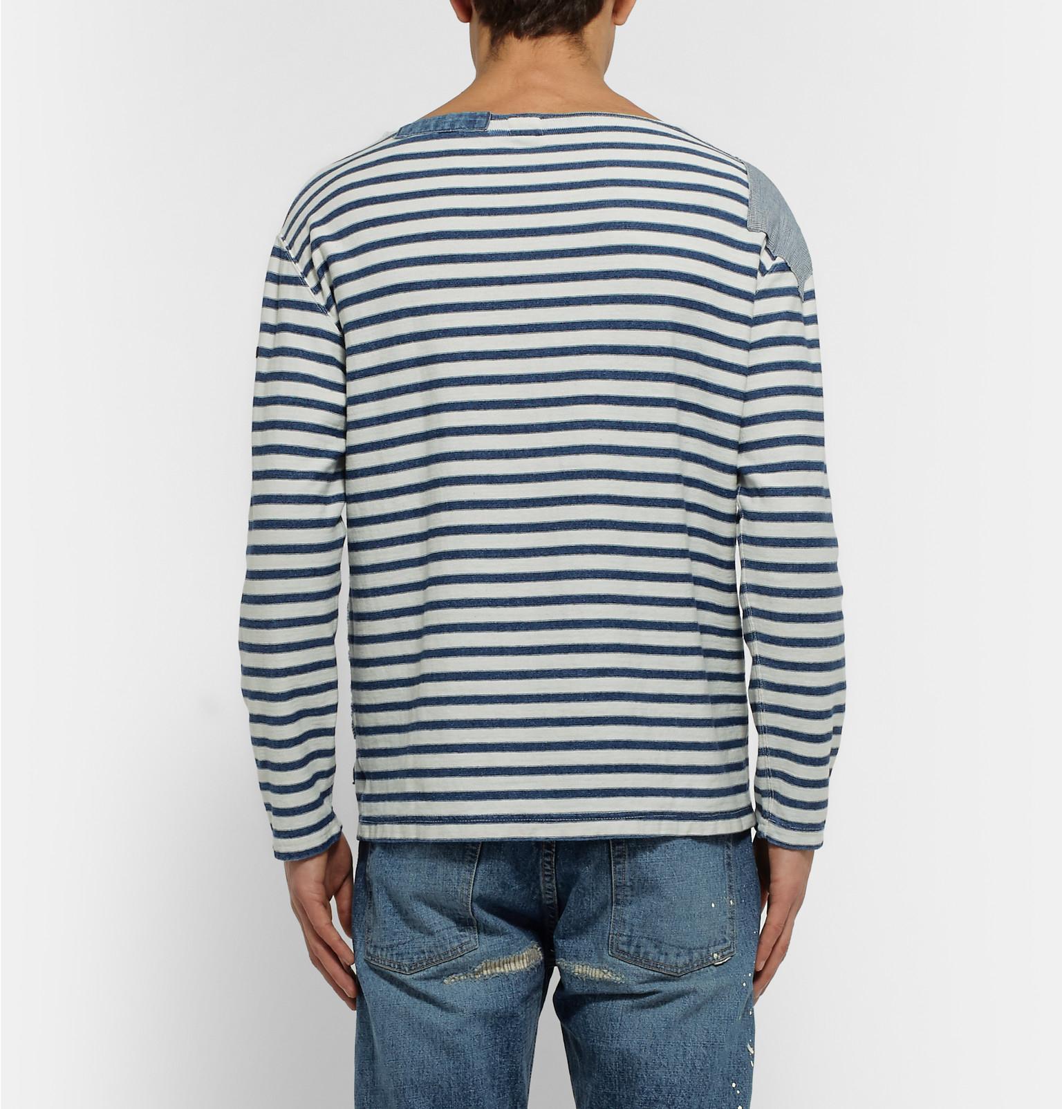 Striped Denim Shirt - IndigoBeams Sortie Pour Pas Cher Jeu Meilleur Magasin Pour Obtenir 6CrQGK