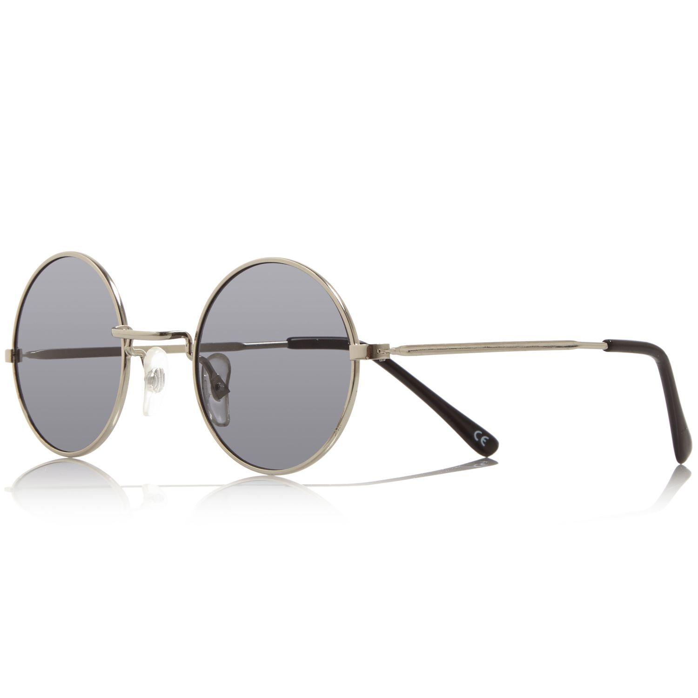 Sunglasses Island  river island silver tone small round sunglasses in metallic for