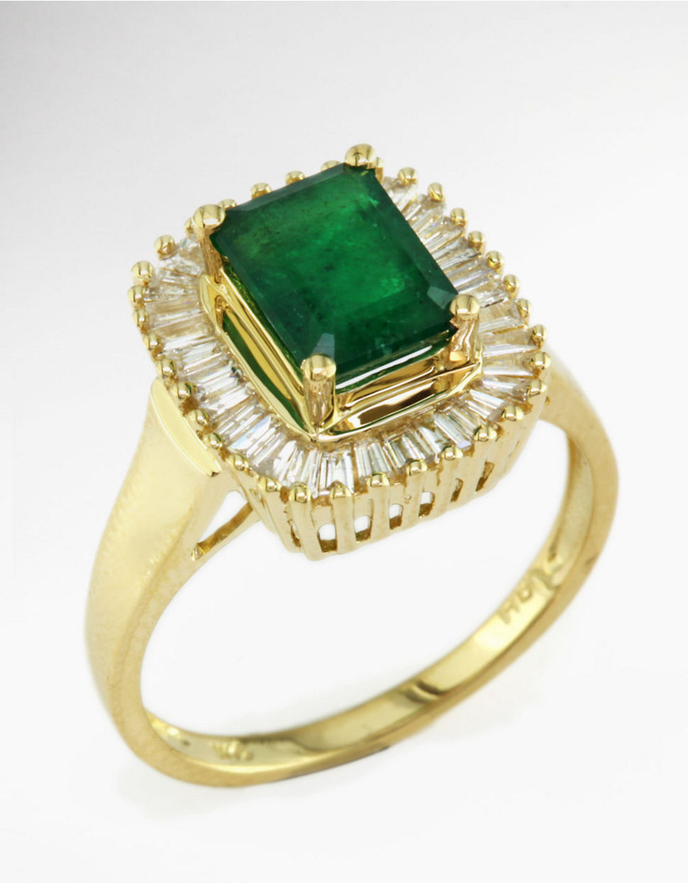 effy brasilica emerald and ring in 14 kt yellow