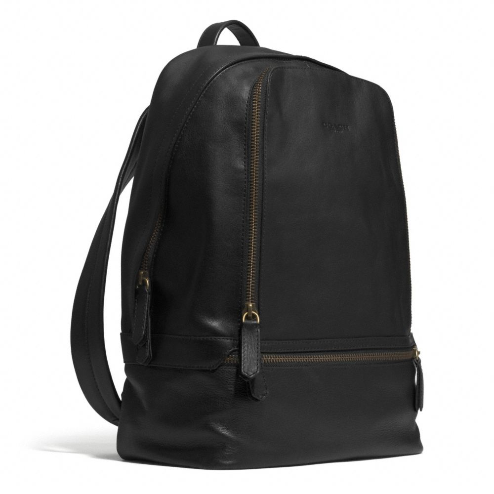 Coach Bleecker Traveler Backpack In Leather In Brown For