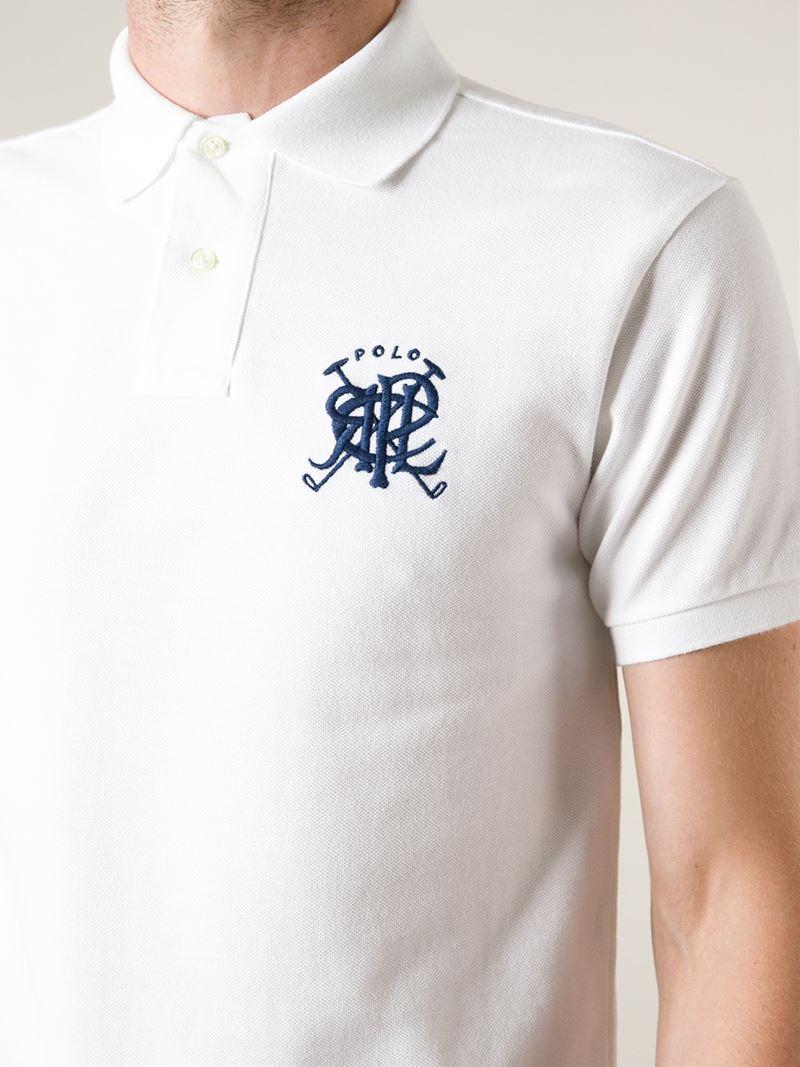 1ba03635 Polo Ralph Lauren Large Logo Polo Shirt in White for Men - Lyst
