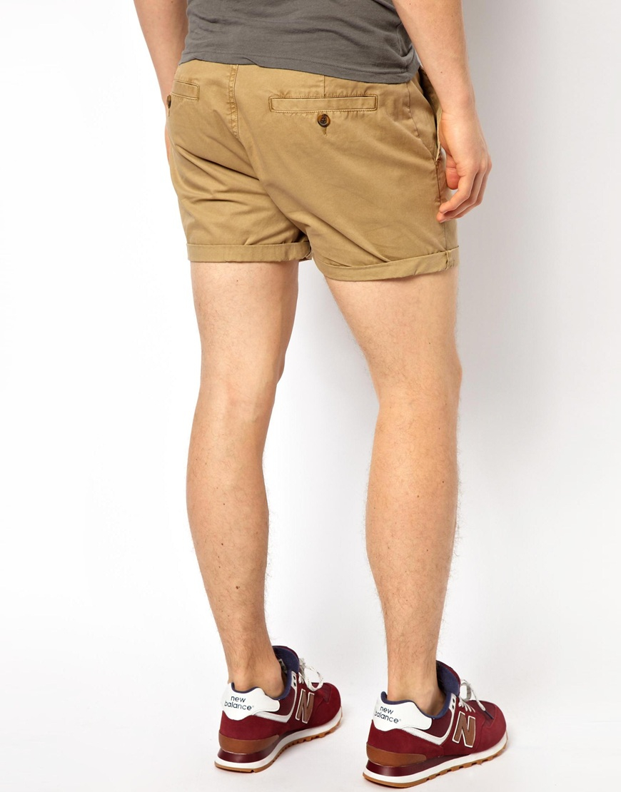 Asos Chino Shorts In Shorter Length in Natural for Men | Lyst