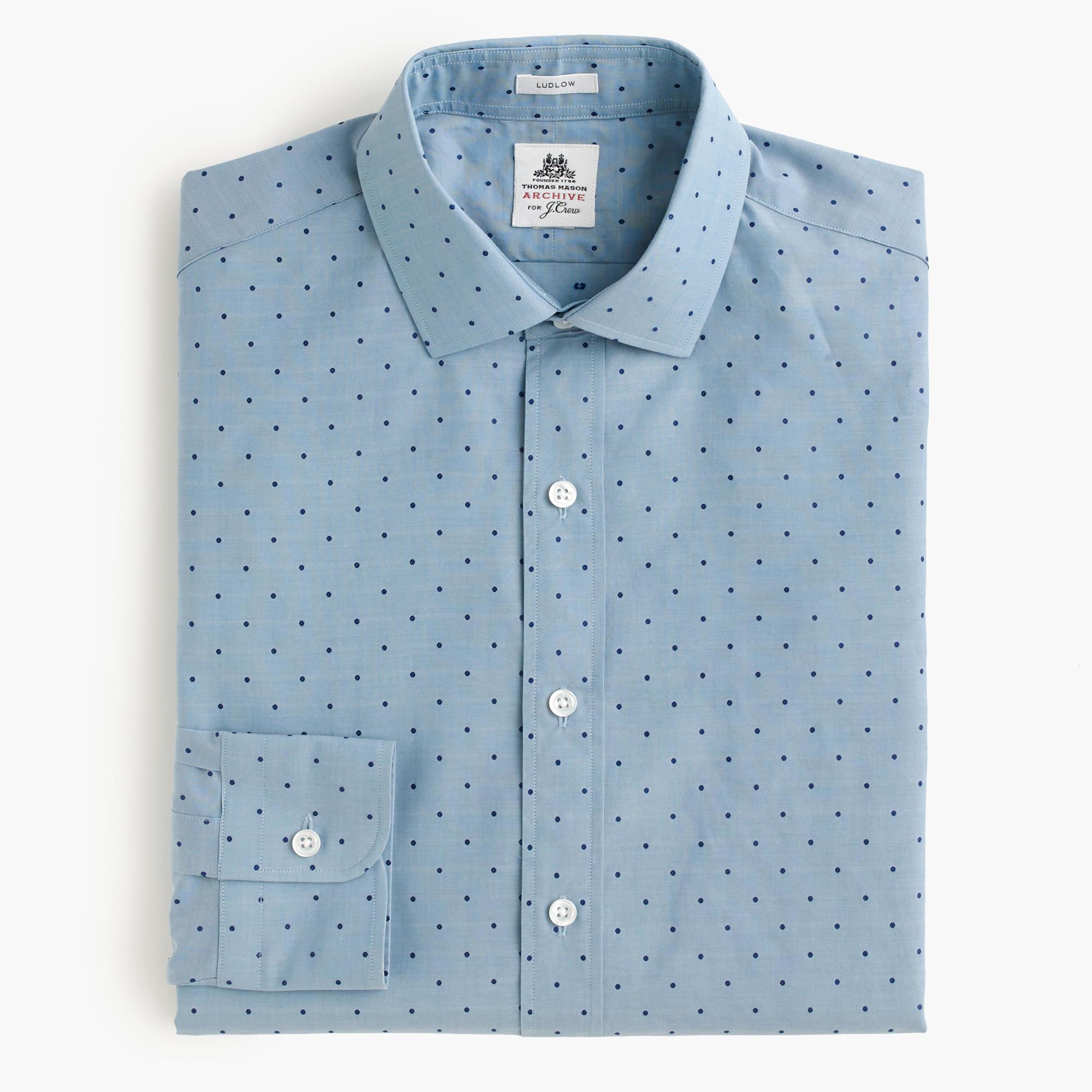 Lyst j crew thomas mason archive ludlow shirt in woven for Thomas mason dress shirts