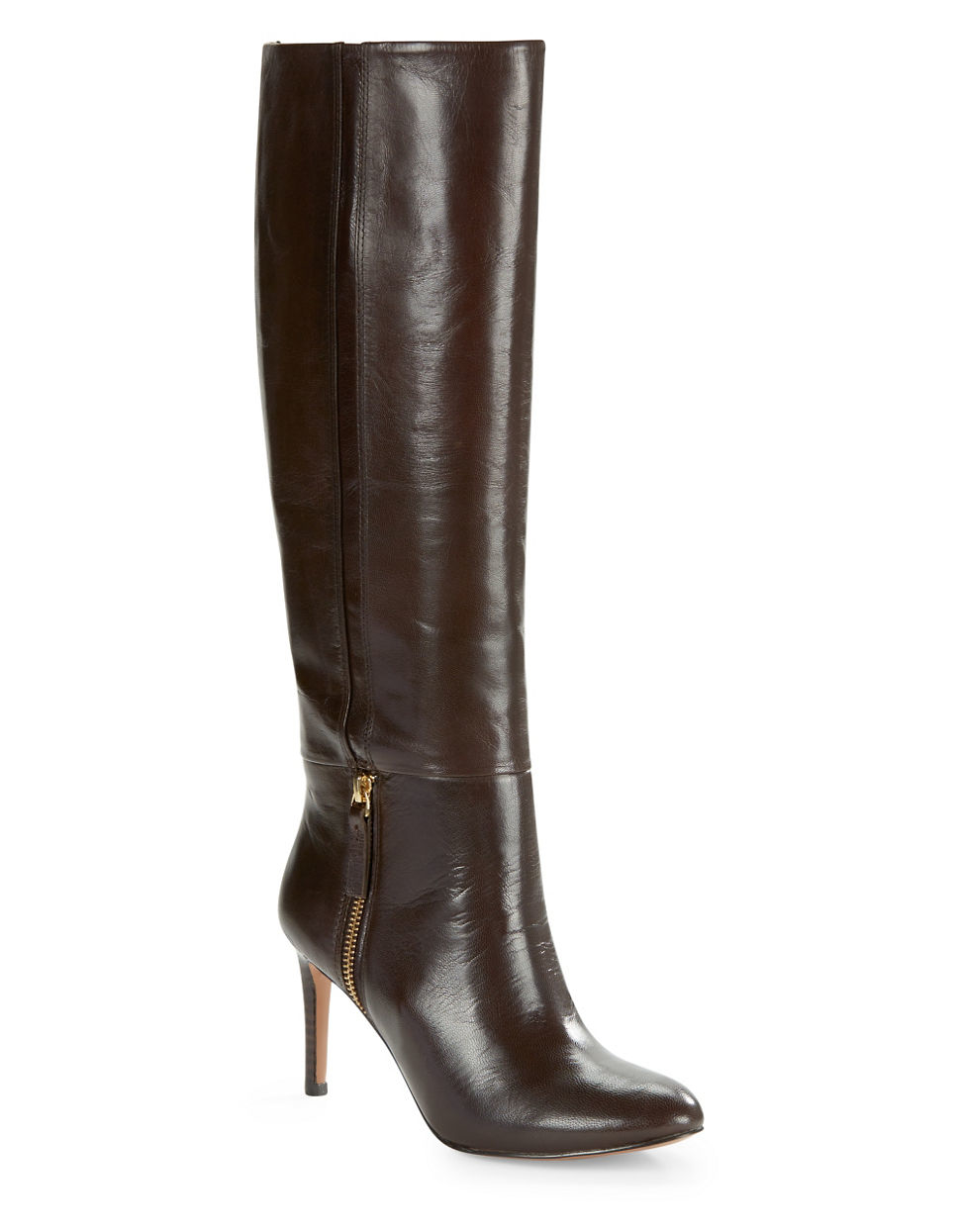 nine west vintage leather knee high boots in brown