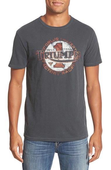 Lucky Brand 39 Triumph 39 Short Sleeve T Shirt In Gray For Men