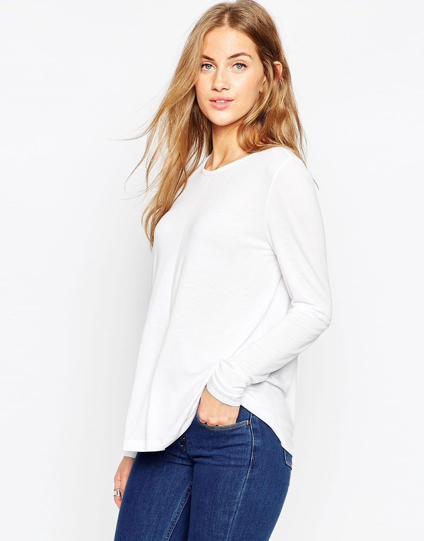 b8083e4f1c8f1c ASOS Long Sleeve Swing Top 2 Pack Save 10% in Black - Lyst