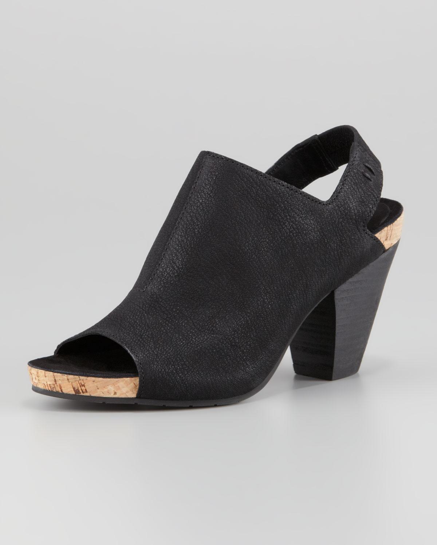 Lyst Eileen Fisher Cone Slingback Slide Sandal Black In
