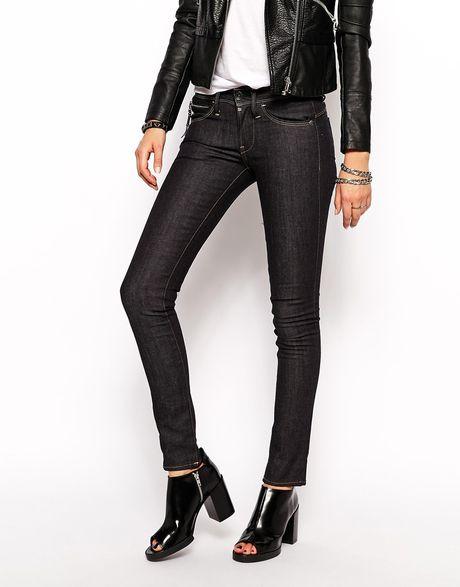 g star raw midge sculptured bum lift skinny jeans in blue. Black Bedroom Furniture Sets. Home Design Ideas