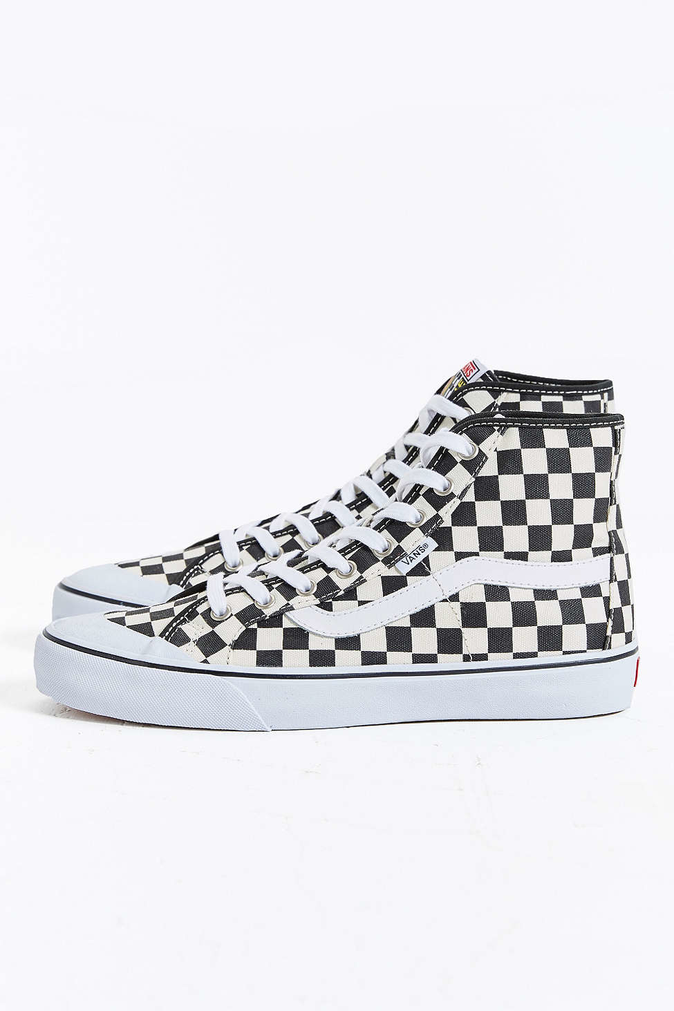 2140f1fe2a5cb2 Lyst - Vans Black Ball Hi Sf Checkered Sneaker in White for Men