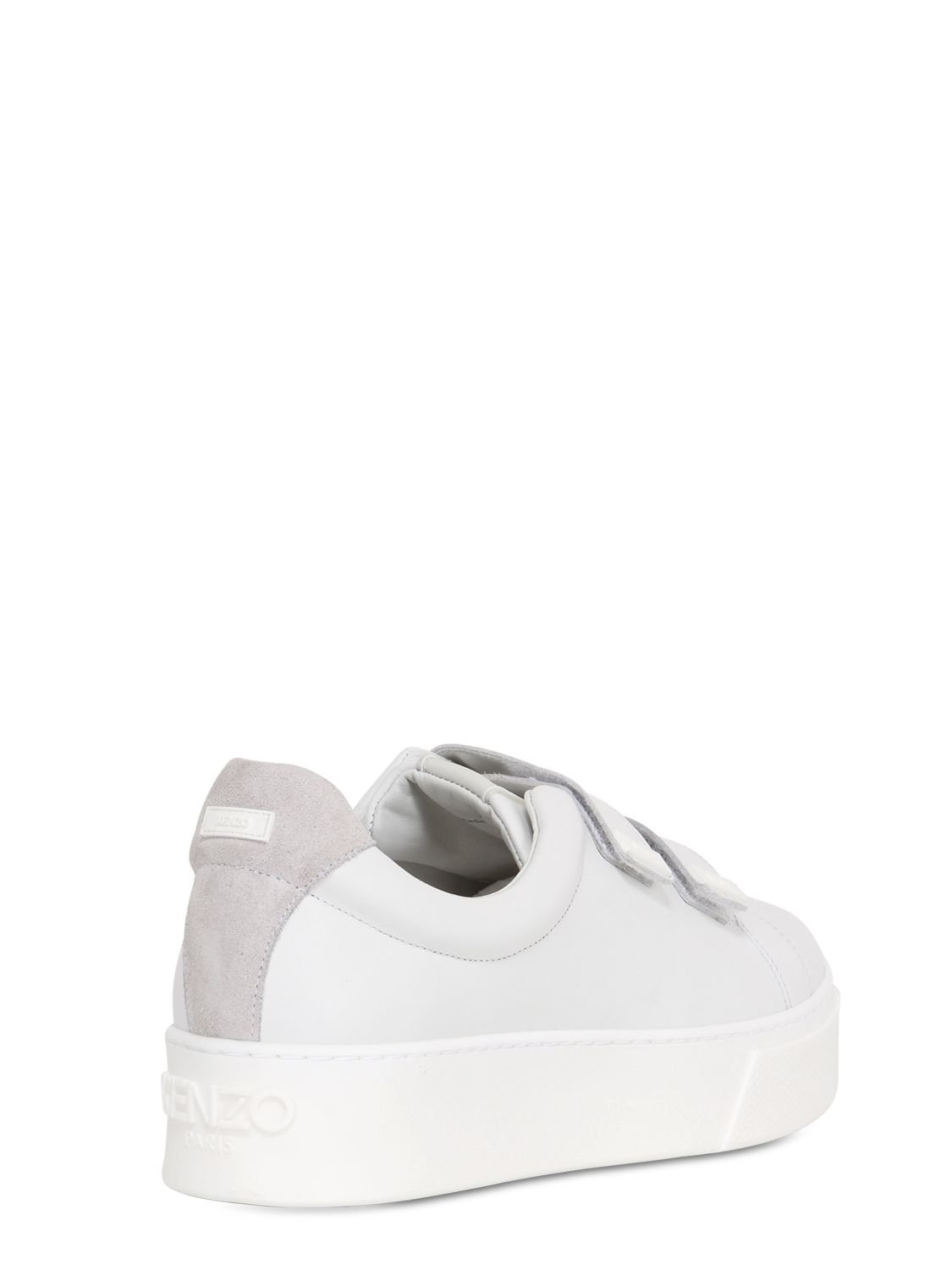 6eff730ab1e5 Lyst - KENZO 50mm Chunky Leather Sneakers in White