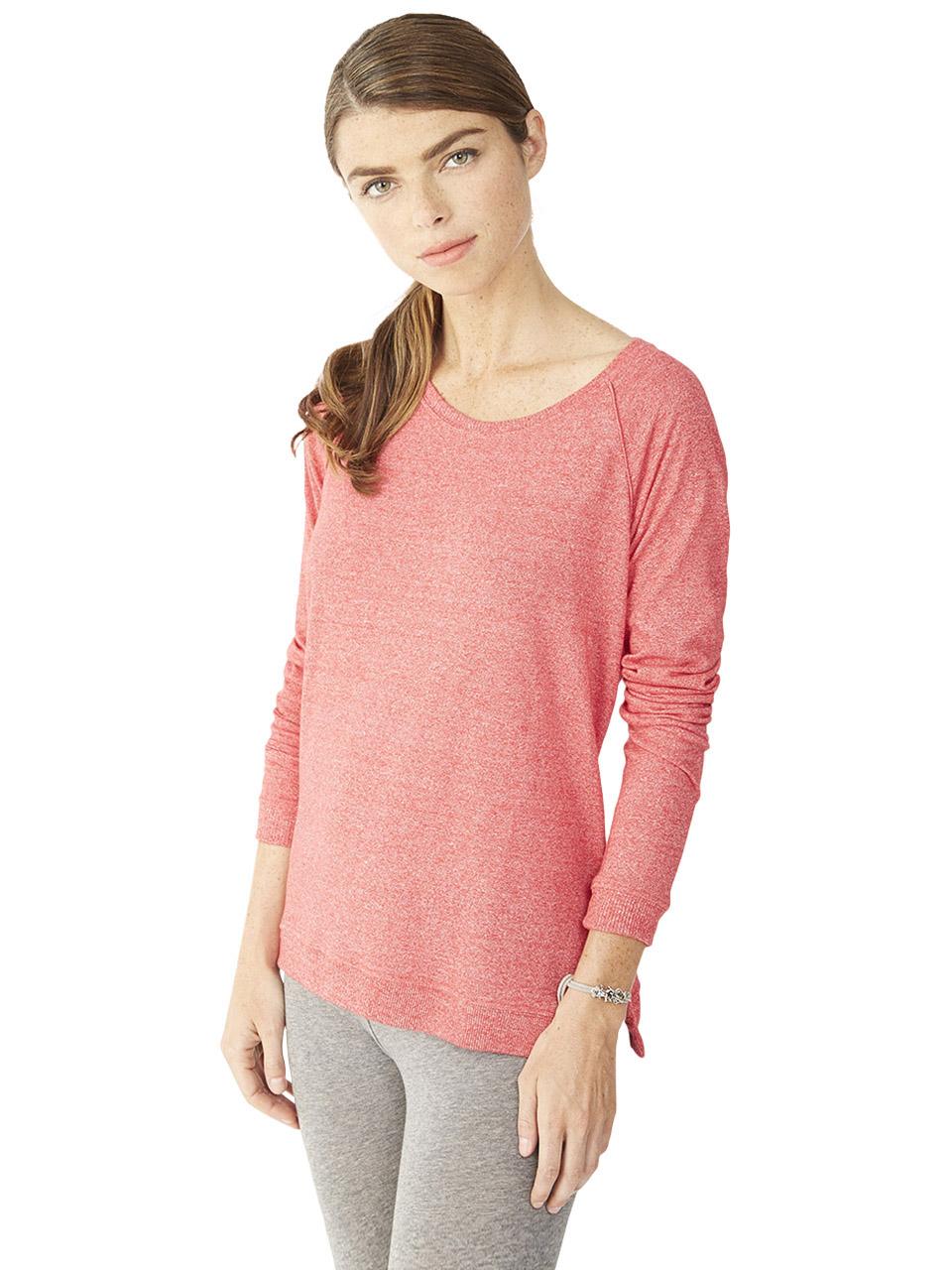 alternative apparel locker room eco mock twist pullover in