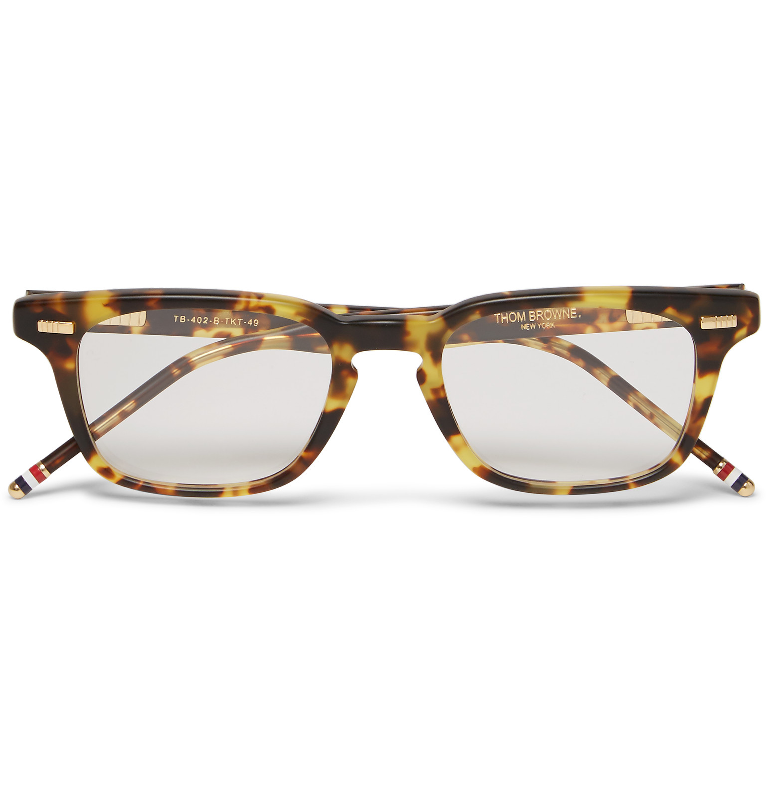 d4aeec6d793a Thom Browne Square-frame Tortoiseshell Acetate Optical Glasses in ...