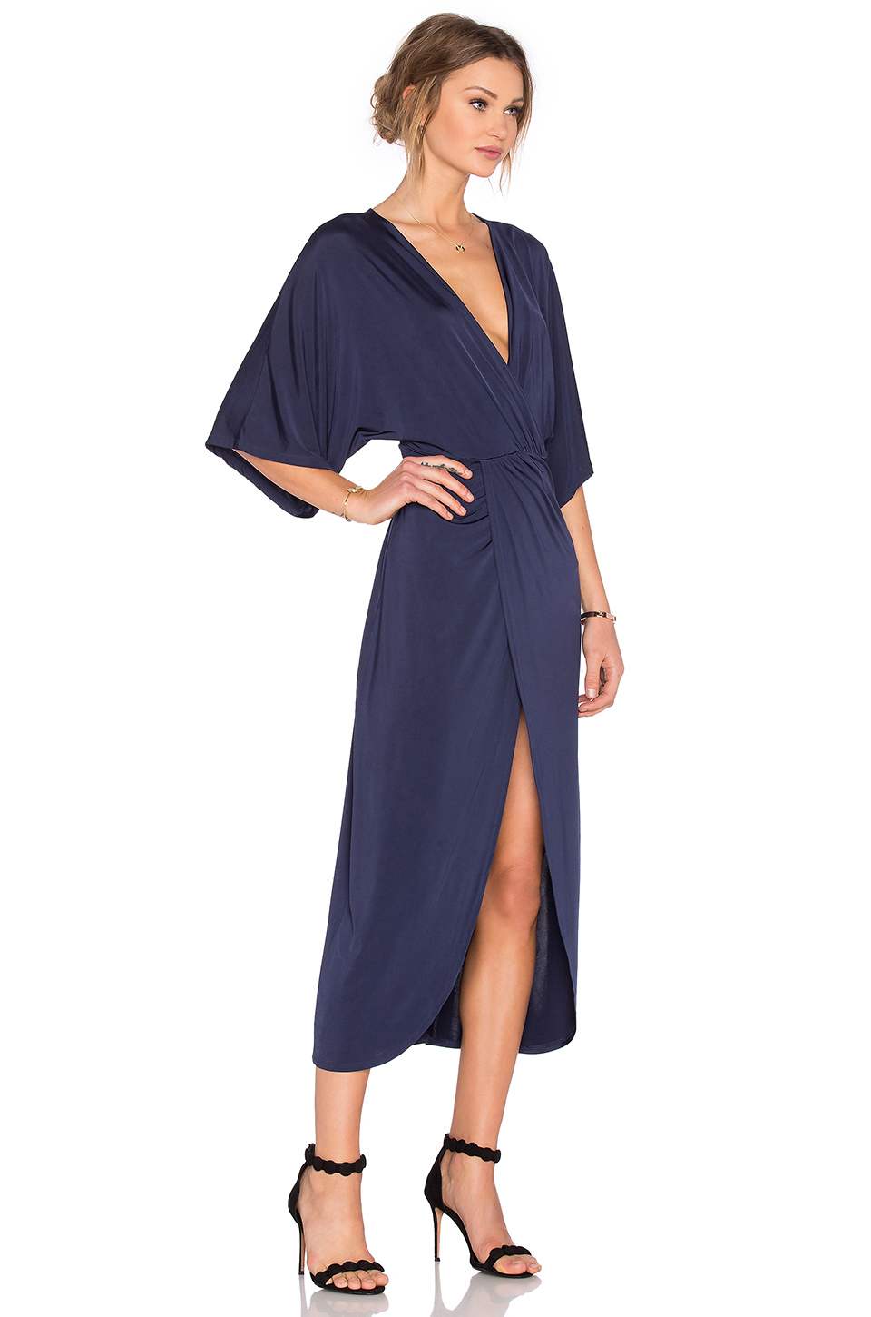 Lyst Lovers Friends Cruise Wrap Dress In Blue